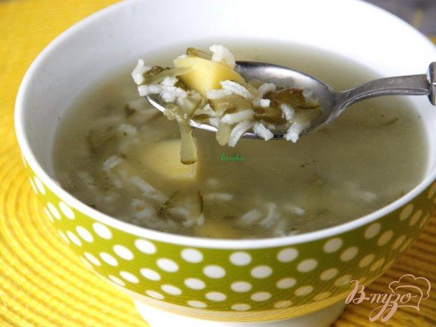 фото рецепта: Рассольник с рисом