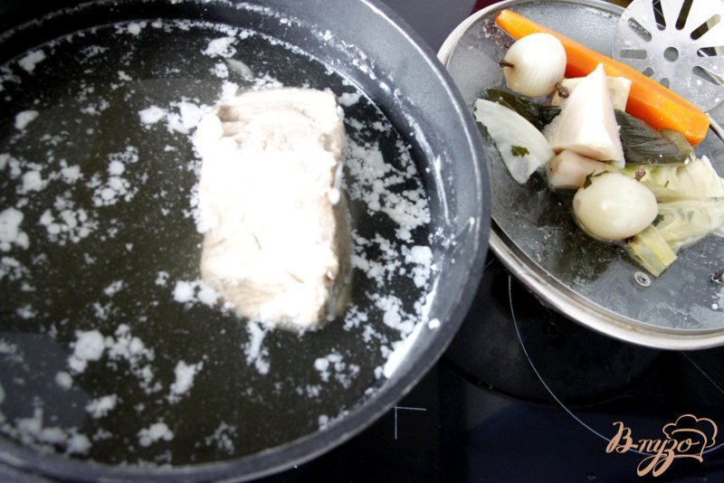 Фото приготовление рецепта: Рассольник с рисом шаг №1