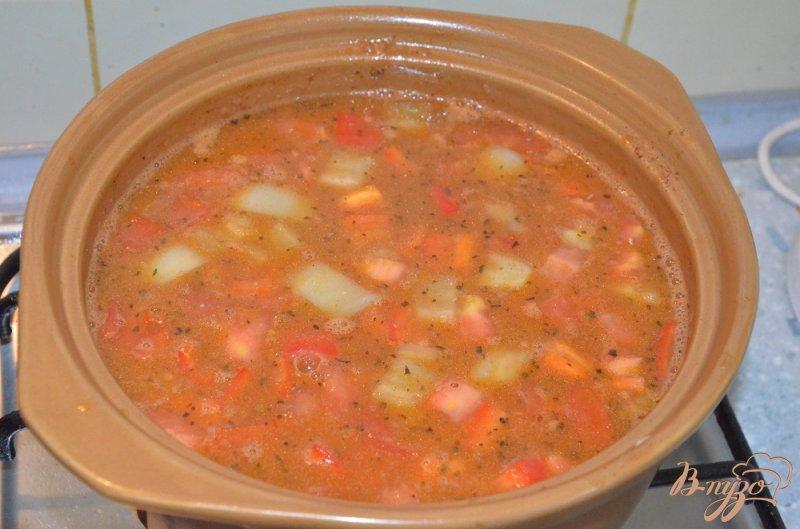 Фото приготовление рецепта: Венгерский суп-гуляш шаг №6