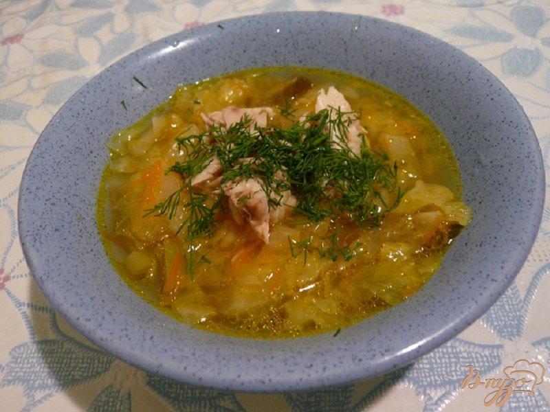 Фото приготовление рецепта: Суп с капустой и кабачком шаг №6