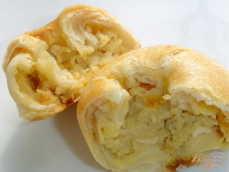 Фото приготовление рецепта: Кныши с начинкой из картофеля шаг №9