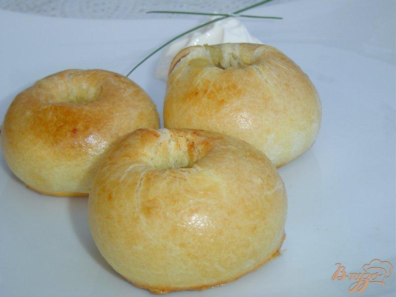 Фото приготовление рецепта: Кныши с начинкой из картофеля шаг №8