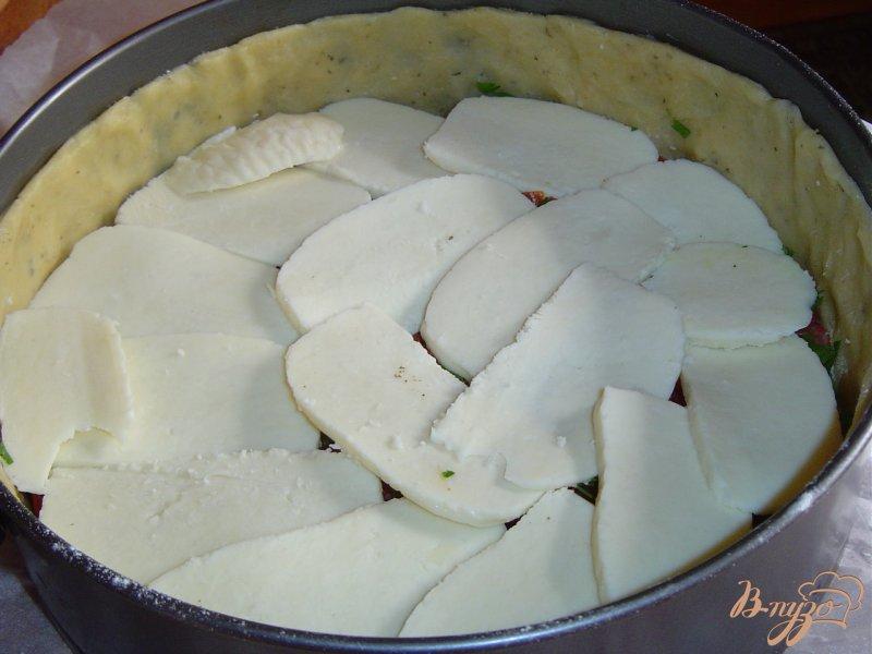Фото приготовление рецепта: Пирог с овощами и брынзой шаг №5