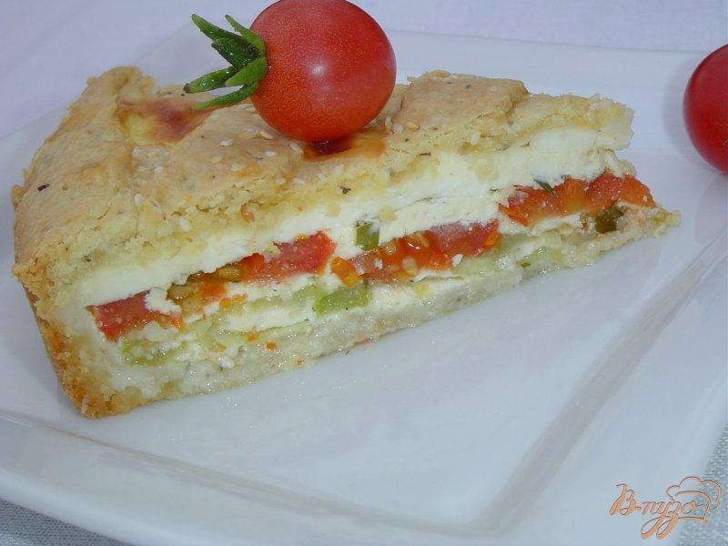 Фото приготовление рецепта: Пирог с овощами и брынзой шаг №10
