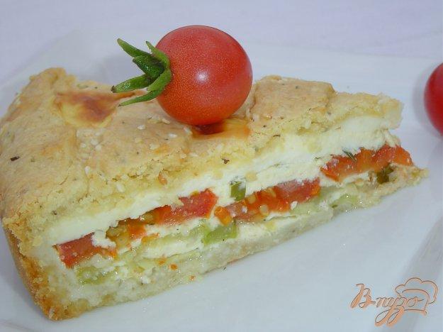 фото рецепта: Пирог с овощами и брынзой