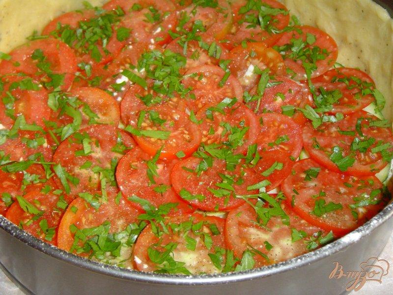 Фото приготовление рецепта: Пирог с овощами и брынзой шаг №4