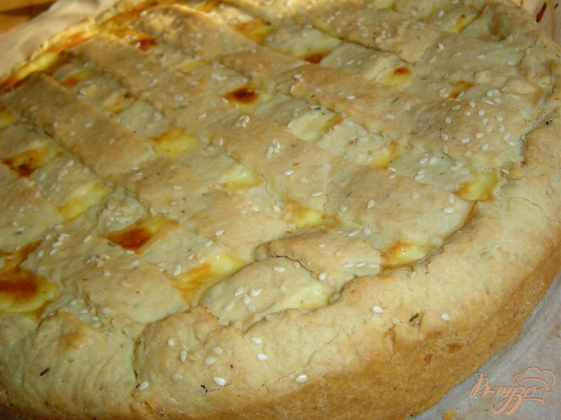 Фото приготовление рецепта: Пирог с овощами и брынзой шаг №8