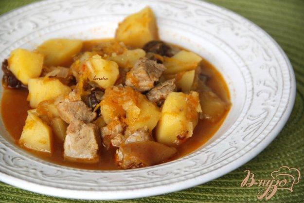 Рецепт Жаркое из свинины с яблоком