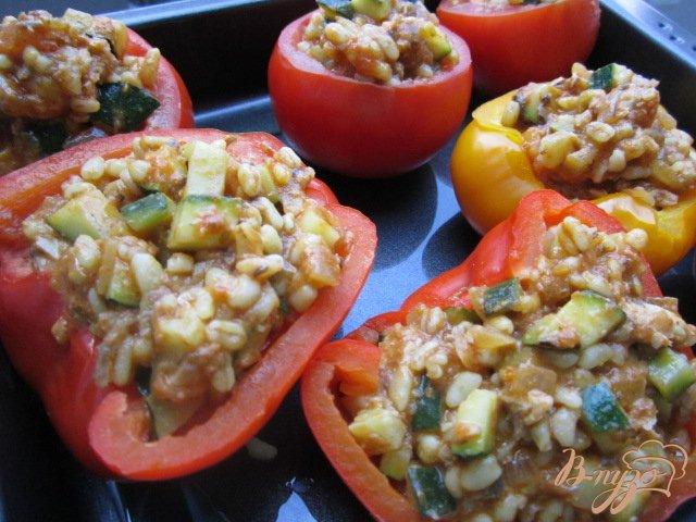 Фото приготовление рецепта: Фаршированные овощи шаг №6