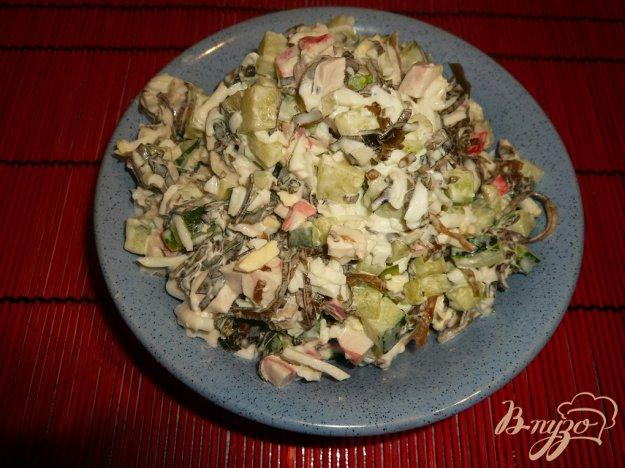 Рецепт Нежный салат с морской капустой