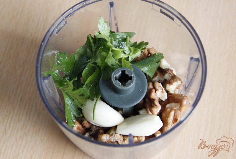 Фото приготовление рецепта: Цуккини под  ореховым соусом шаг №3