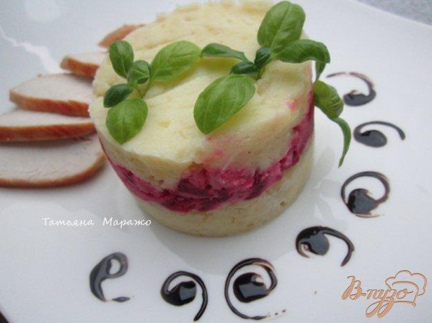 Рецепт Давленый картофель со свеклой