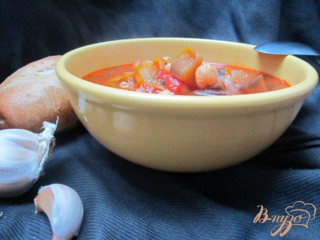 Рецепт Густой овощной суп с горохом нут