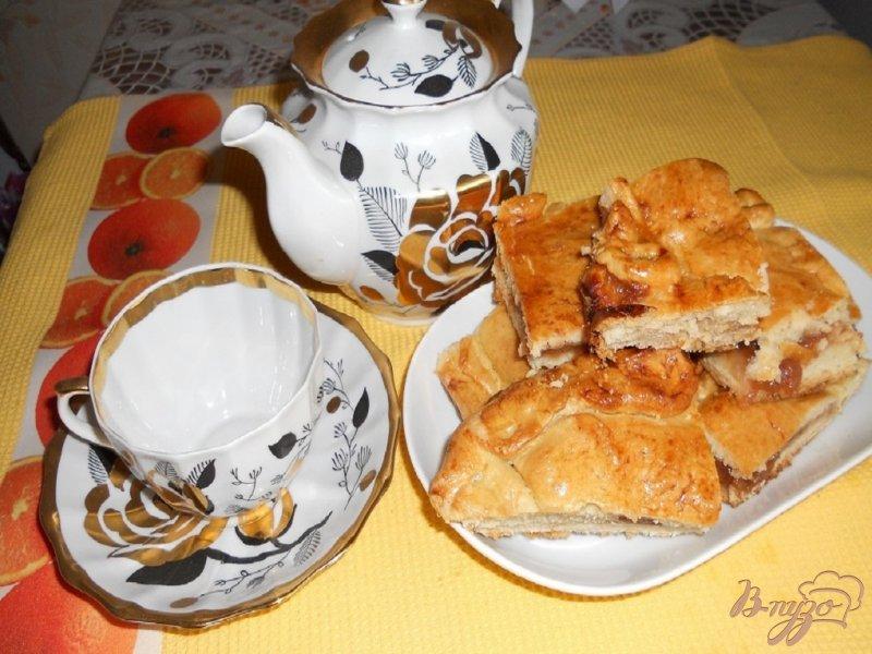 Фото приготовление рецепта: Пирог с вареньем шаг №9