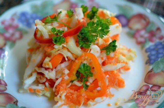 Рецепт Слоппи капустный салат с соусом