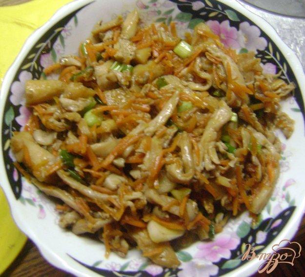 Рецепт Вешенки с морковью