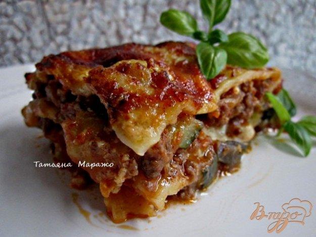 Рецепт Лазанья с мясным фаршем и овощами