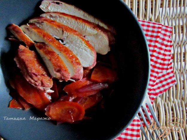 Рецепт Куриные грудки с морковью в вишневом соке
