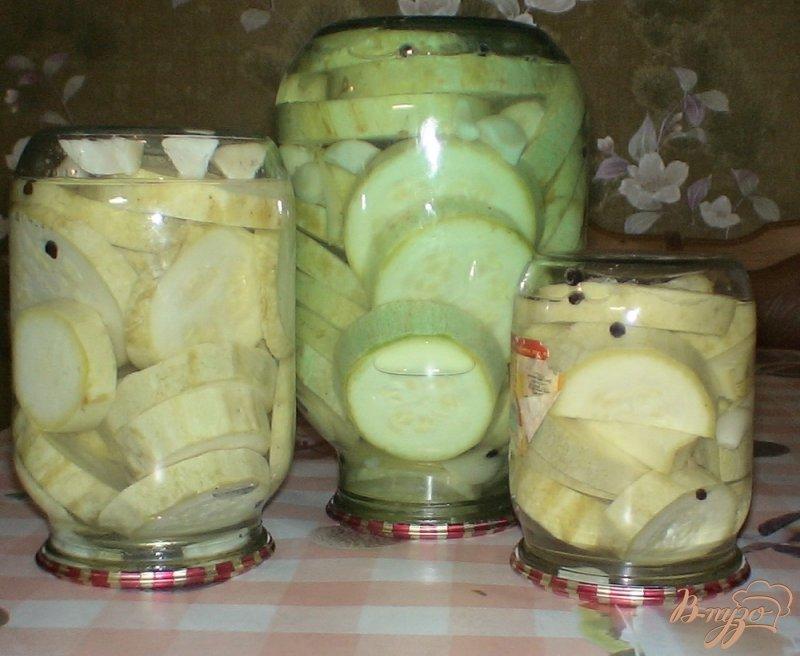 Фото приготовление рецепта: Кабачки маринованные шаг №6