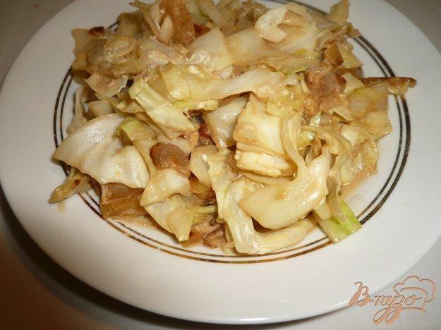 Рецепт Капуста со сметанкой и яблочком