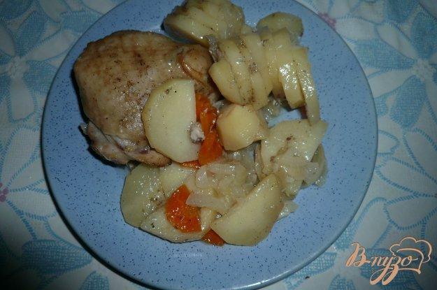 Рецепт Картофель с курицей в банке