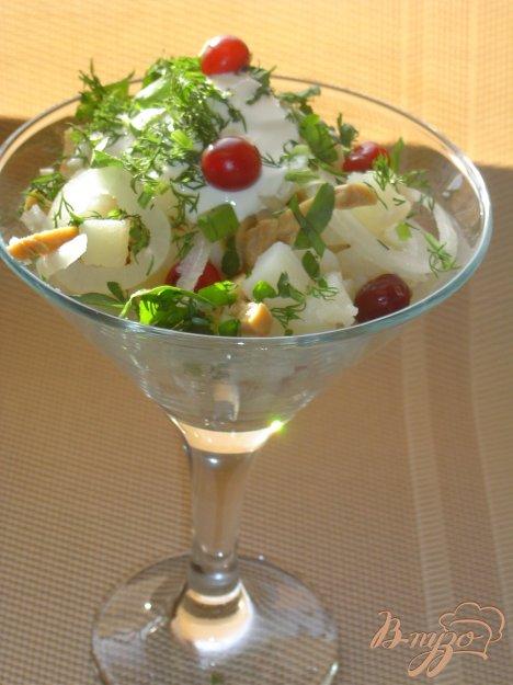 Рецепт Картофельный салат с грибами и клюквой