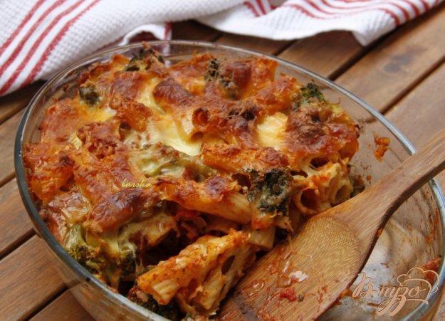 Рецепт Гратин из пасты, брокколи и сосисок