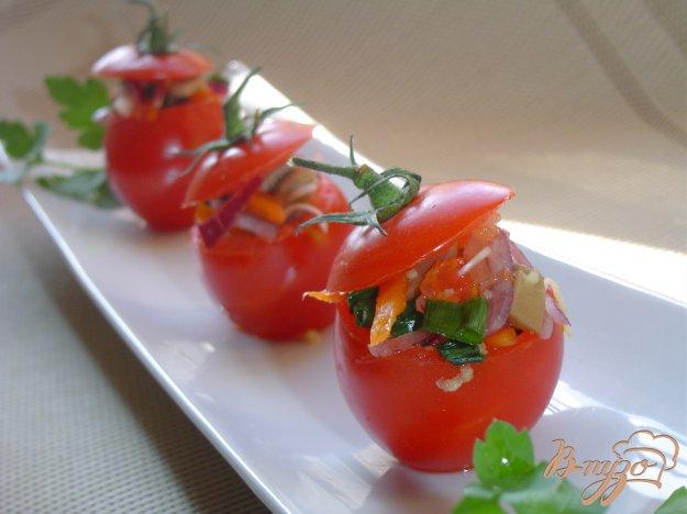 Рецепт Помидоры, фаршированные овощами