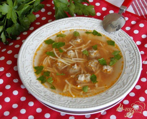Рецепт Суп на овощном бульоне с фрикадельками и вермишелью