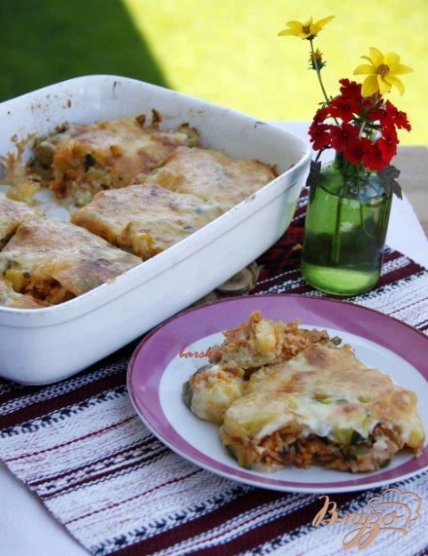 фото рецепта: Мусака с овощами и рисом