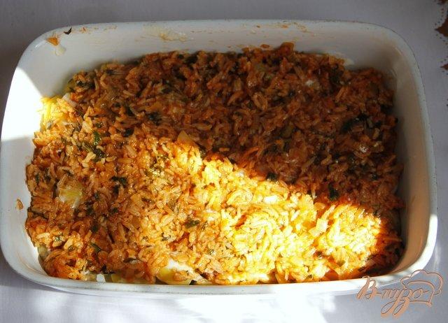 Фото приготовление рецепта: Мусака с овощами и рисом шаг №6
