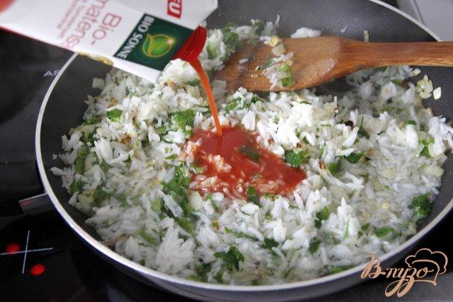 Фото приготовление рецепта: Мусака с овощами и рисом шаг №3