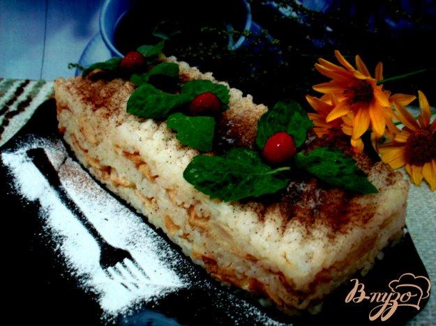 Рецепт Рисовая запеканка с яблоками