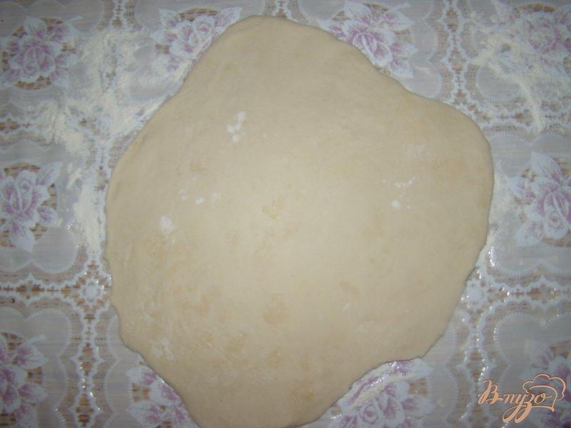 Фото приготовление рецепта: Китайские блины с зеленым луком шаг №4