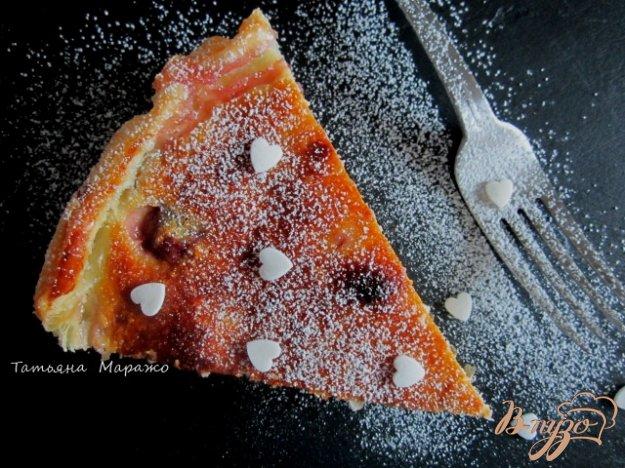 Рецепт Открытый пирог с вишнями