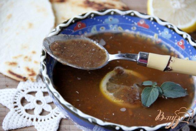 фото рецепта: Греческий постный суп из чечевицы