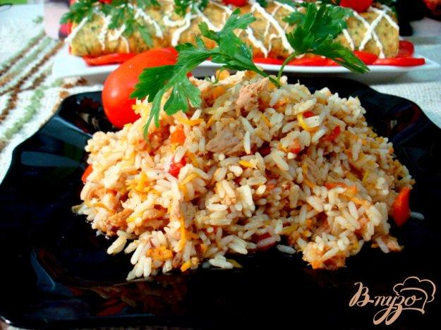 Рецепт Рис с овощами и тунцом