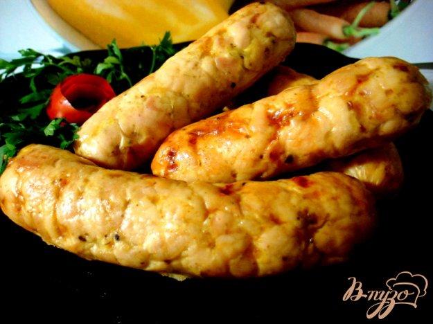 Рецепт Домашняя куриная колбаса с ветчиной