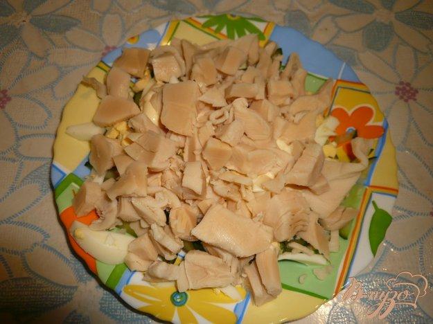 Рецепт Легкий салат с консервированным кальмаром