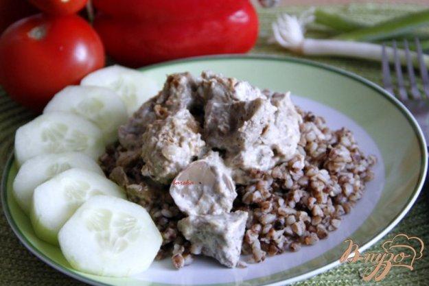 Рецепт Свинина в творожно-горчичном соусе