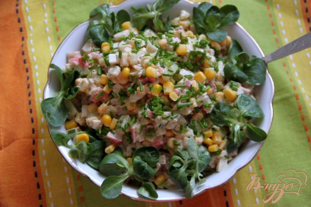 Рецепт Салат из крабовых палочек, но по-новому...
