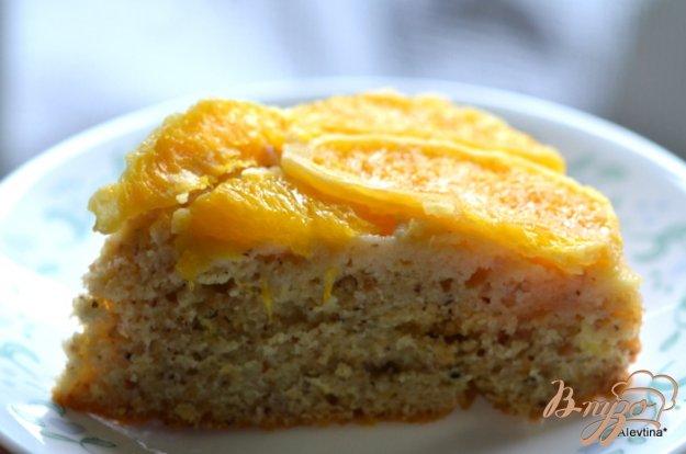 Рецепт Апельсиновый перевернутый кекс