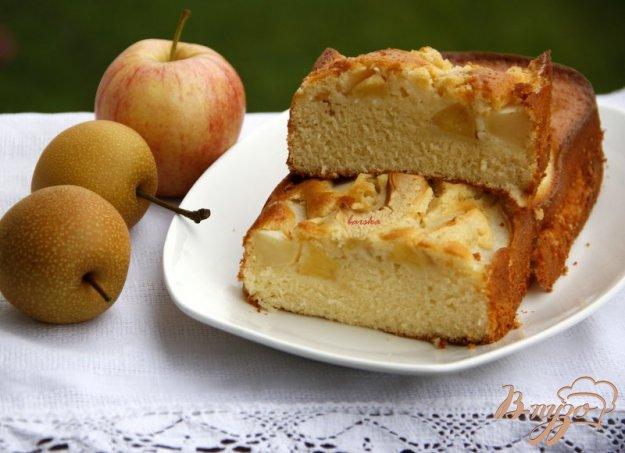 Рецепт Пирог с грушами и яблоком