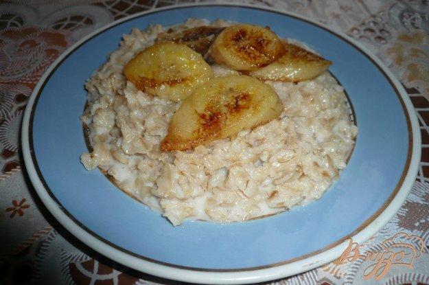 Рецепт Овсяная каша с жареным бананом