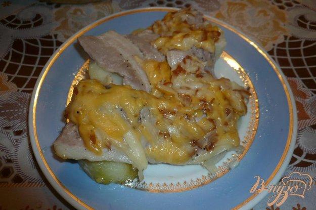 Рецепт Картофель запеченный с беконом и сыром