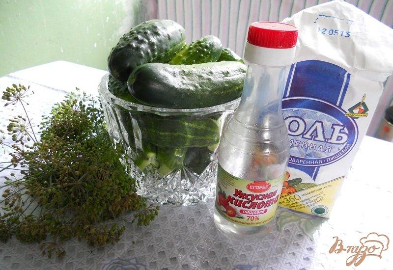 Фото приготовление рецепта: Малосольные огурчики на зиму шаг №1