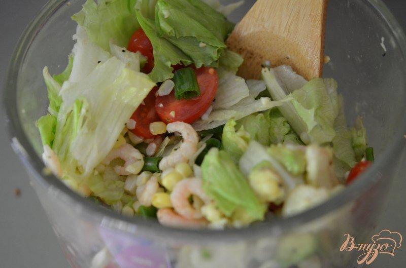 рецепт салата креветок с кукурузой