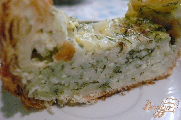 Рецепт Пирог из слоеного теста с начинкой из зерненого творога
