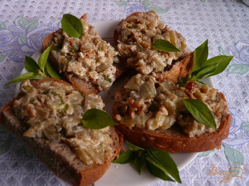 Фото приготовление рецепта: Густой соус из баклажанов шаг №9