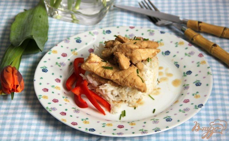 Фото приготовление рецепта: Куриные кусочки по-азиатски шаг №5
